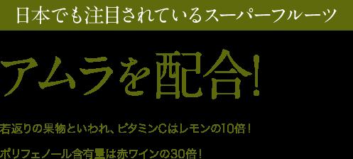 日本でも注目されているスーパーフルーツ アムラを配合!